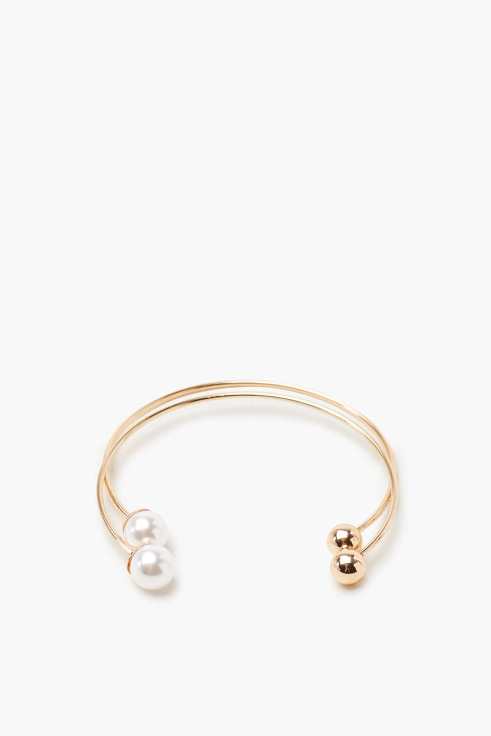 Esprit - Bangle set in metal with two beads