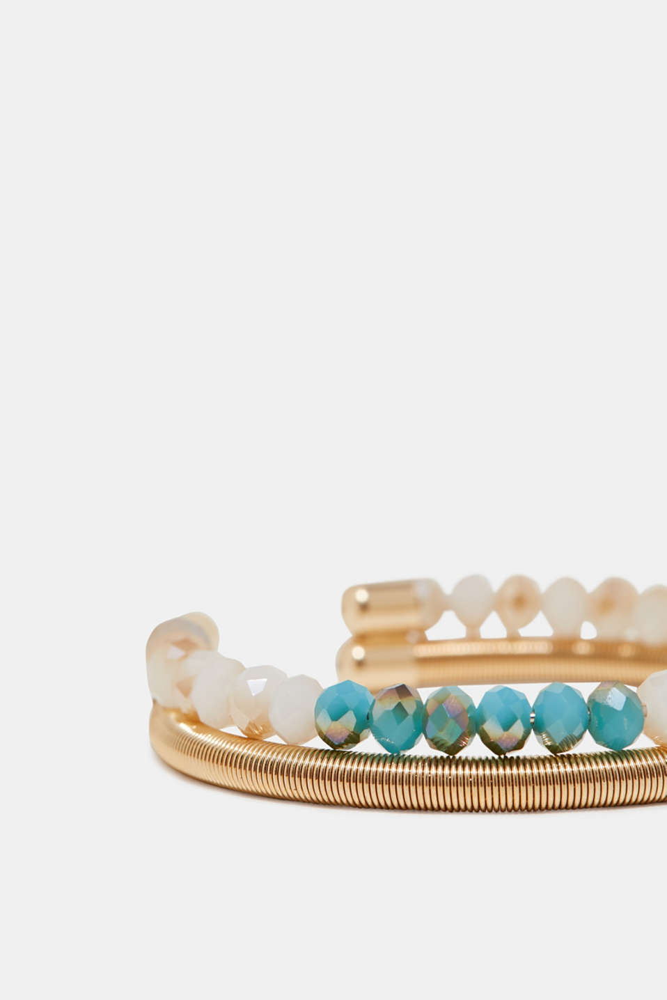 Two-row bangle with gemstones