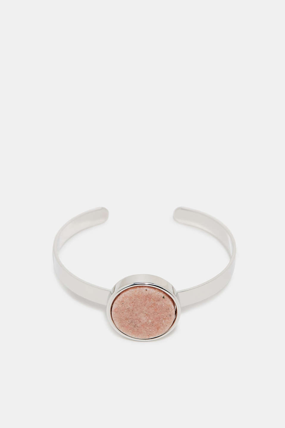 Esprit - Open metal bangle with a stone