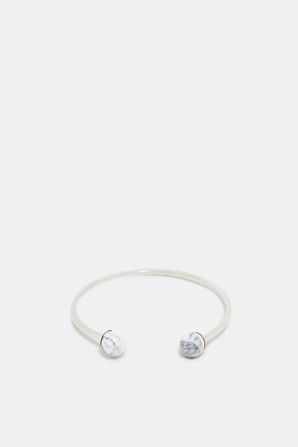 Esprit - Open bracelet with marble-effect beads