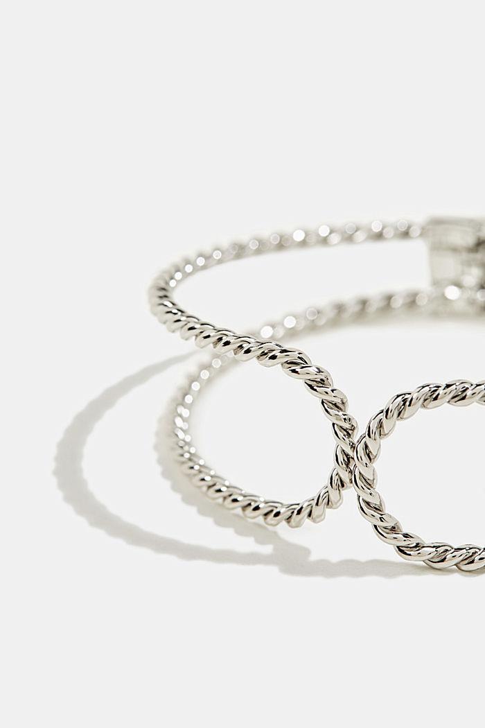 Metal bracelet, SILVER, detail image number 1