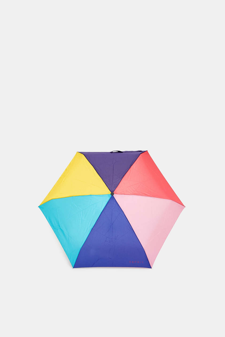 Esprit - Mini umbrella with bright colour block patterns