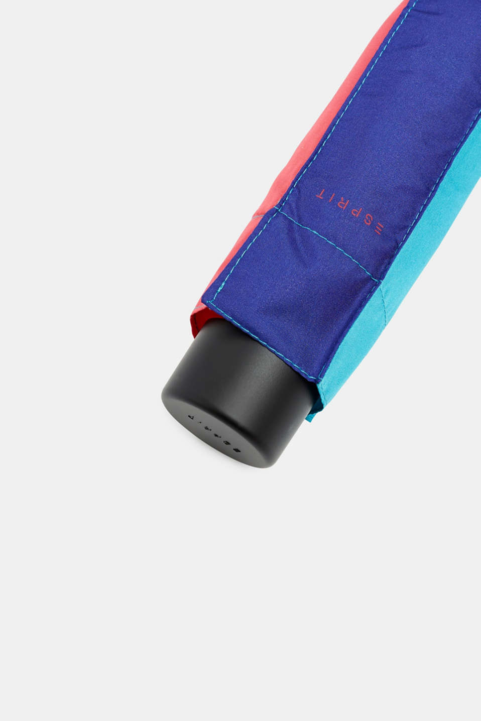Mini umbrella with bright colour block patterns, one colour, detail image number 1
