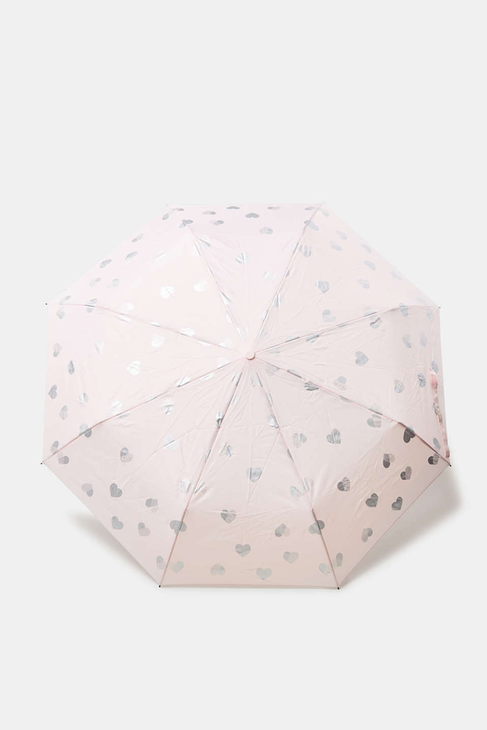 Esprit - Umbrella with a shimmering heart print