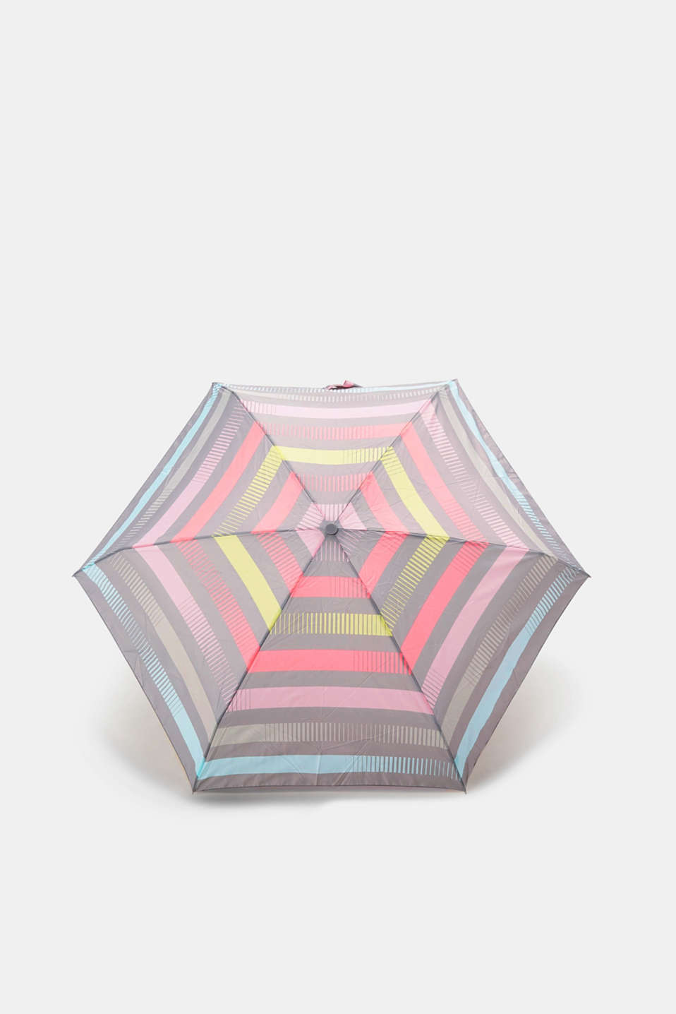 Esprit - Pocket umbrella with pastel stripes