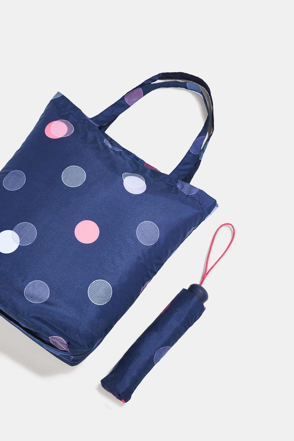Pocket umbrella with nylon bag, 1COLOR, detail image number 1