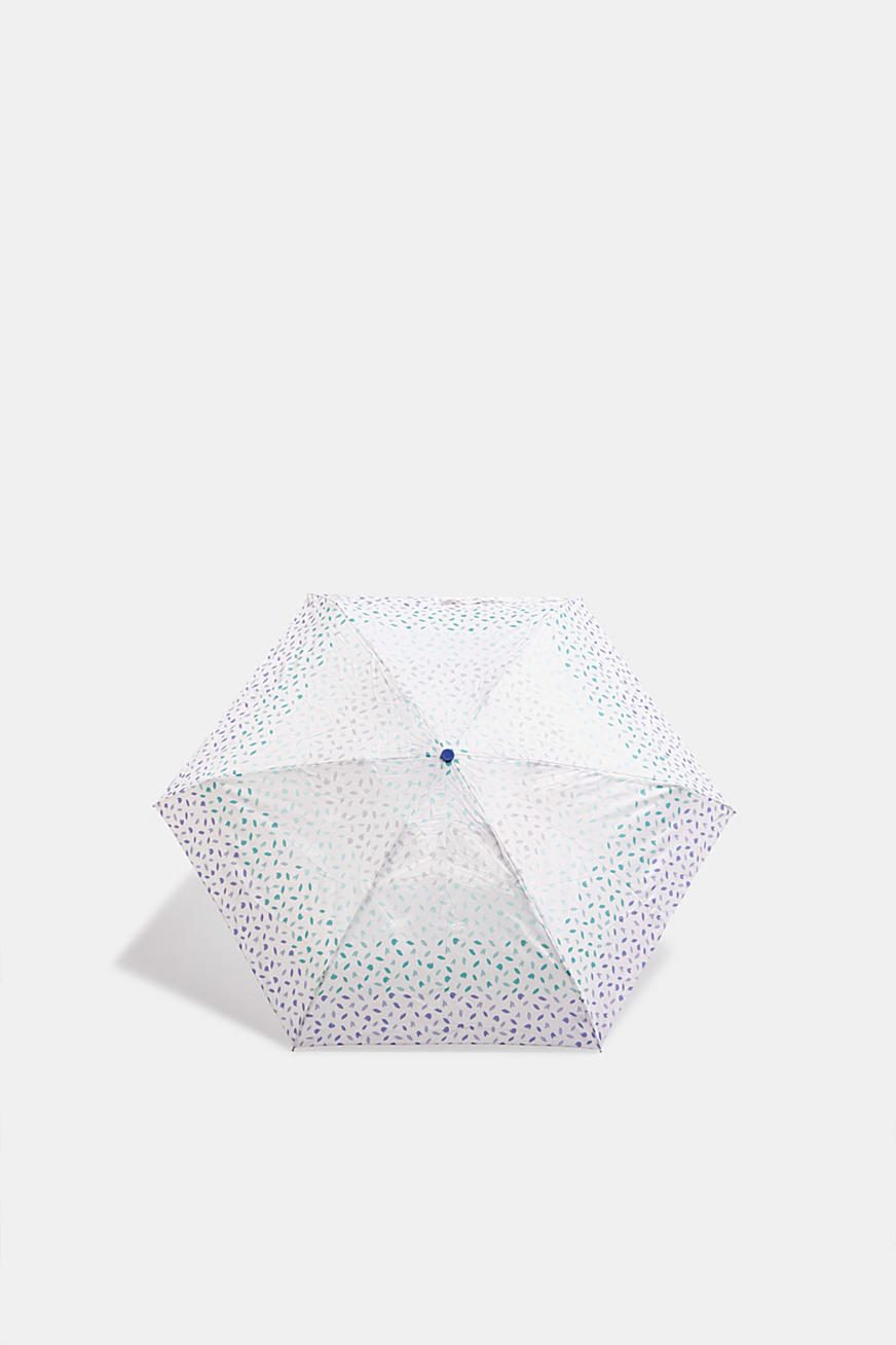 Pocket umbrella with leaf print