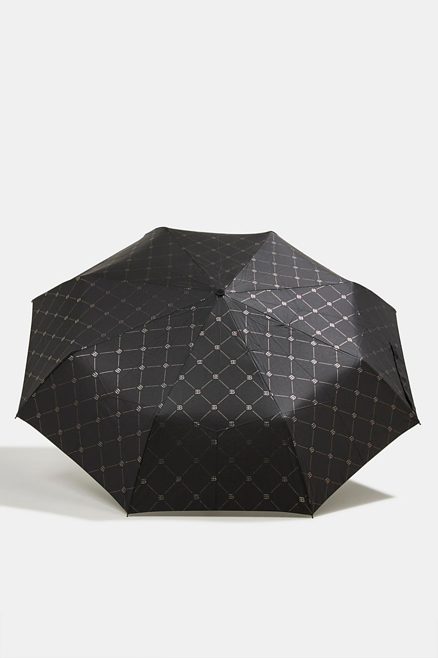 Pocket umbrella with monogram print