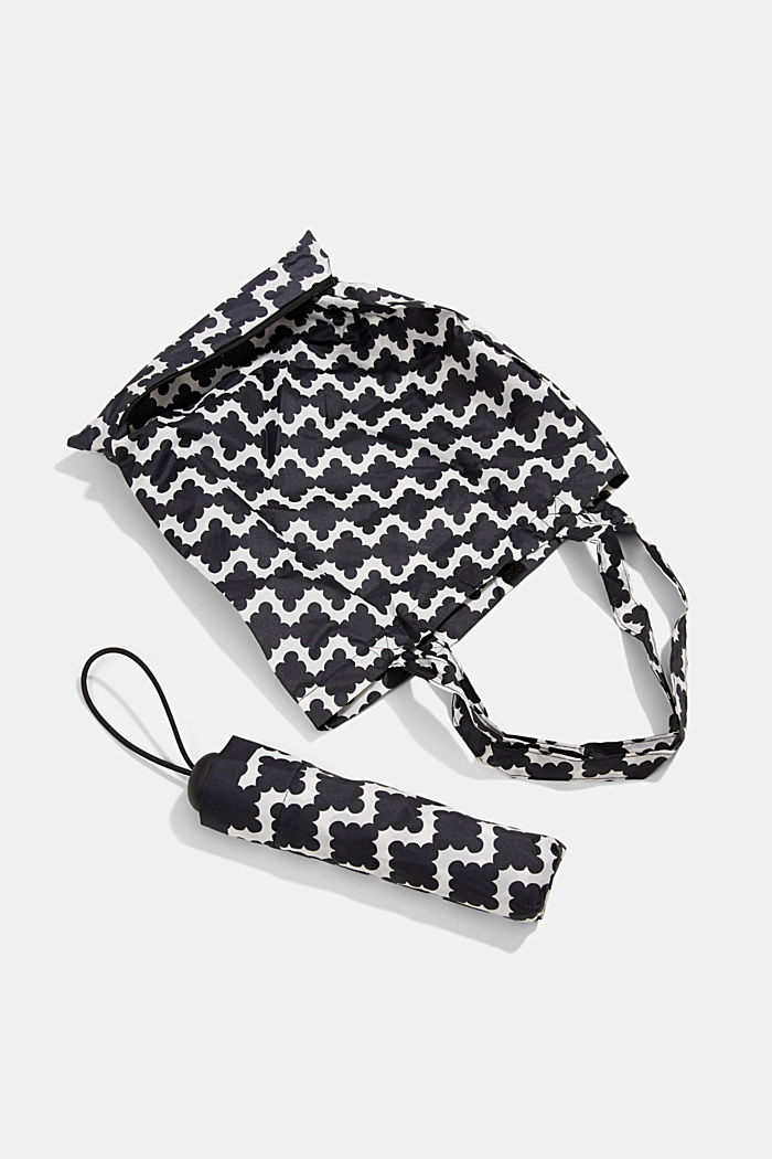 Taschenschirm mit passendem Shopper, ONE COLOR, detail image number 0