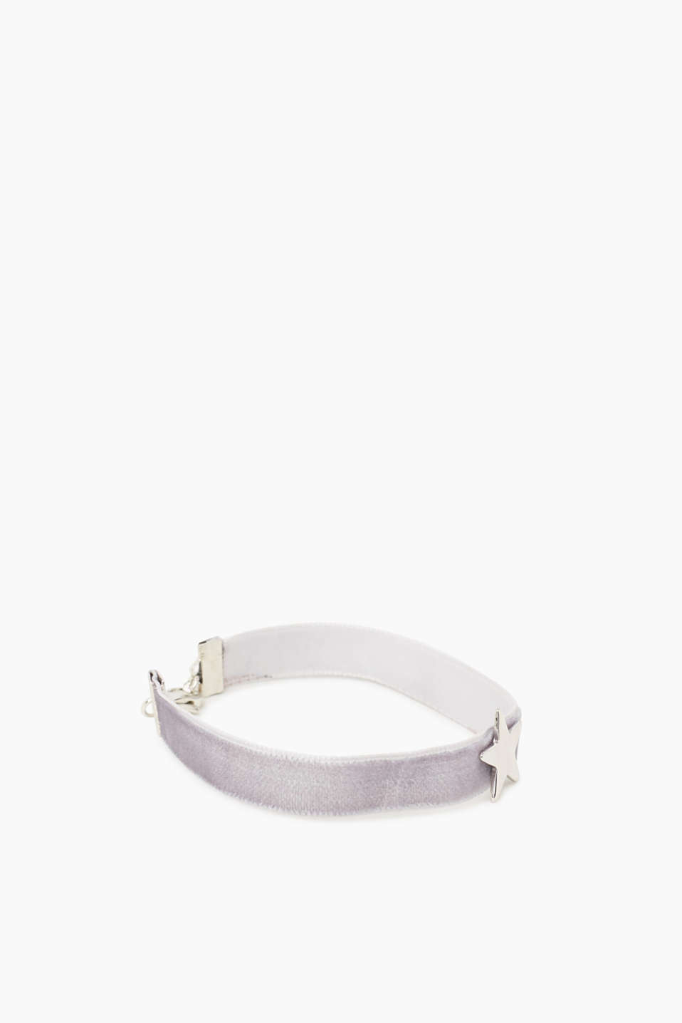 Velvety bracelet with a star