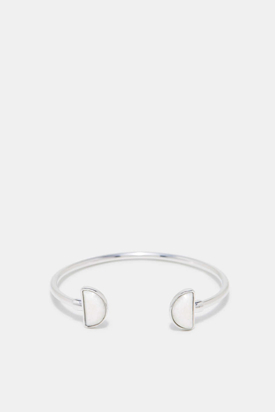 Esprit - Open bangle with a stone trim