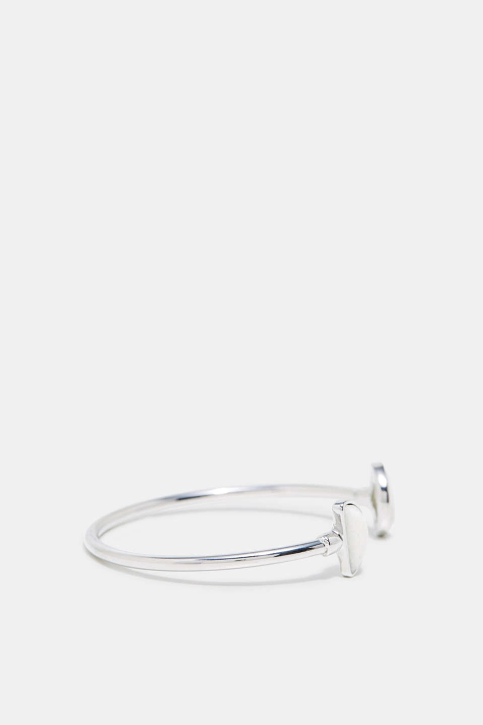 Open bangle with a stone trim