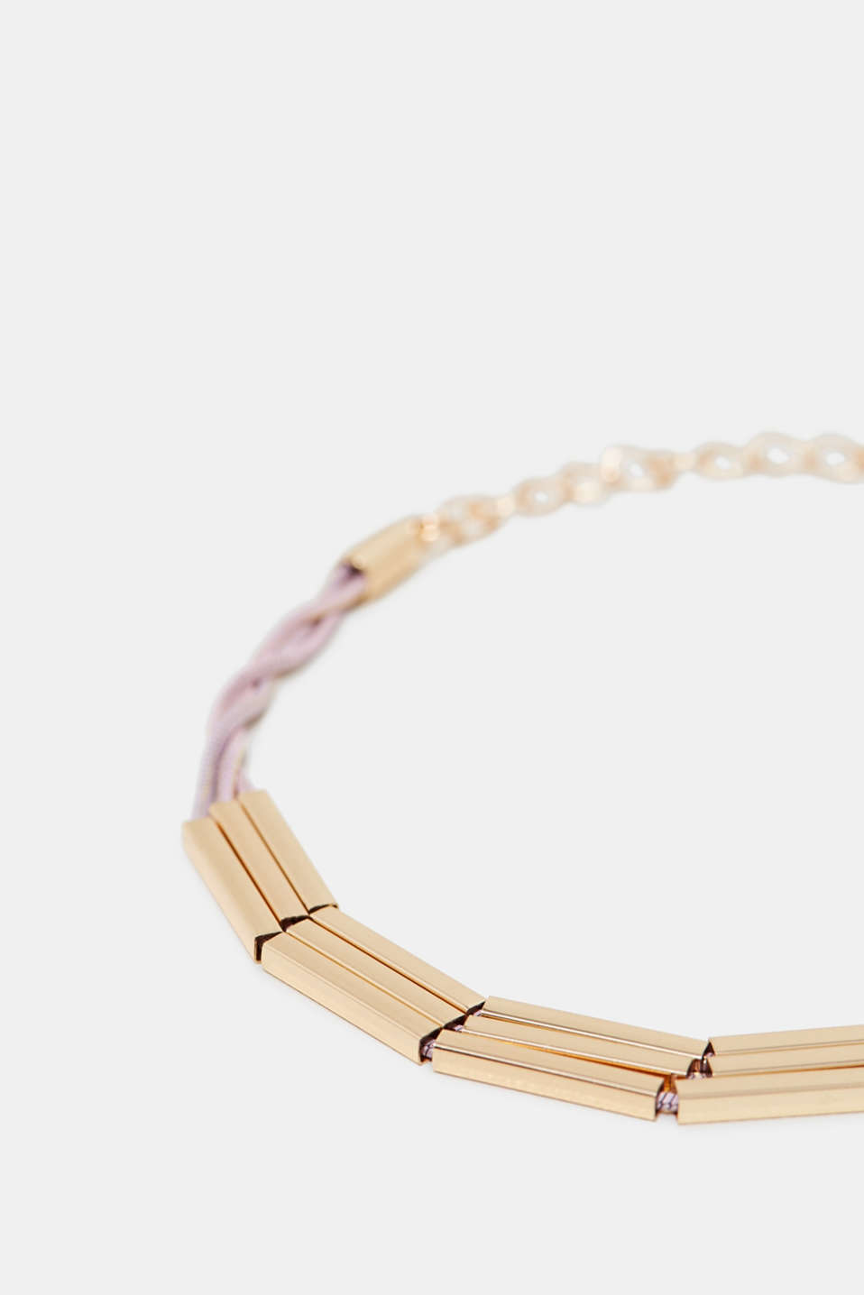 3-strand bracelet with metal elements