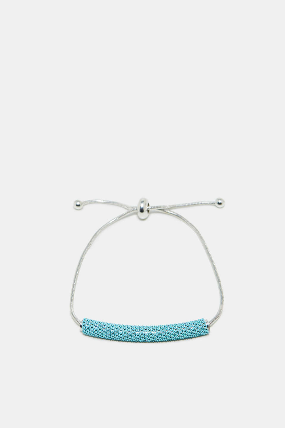 Can be adjusted however you please: fine bracelet with coloured bar-shaped beads
