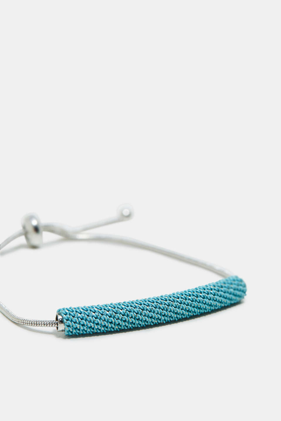 Adjustable tubular bracelet + bar beads
