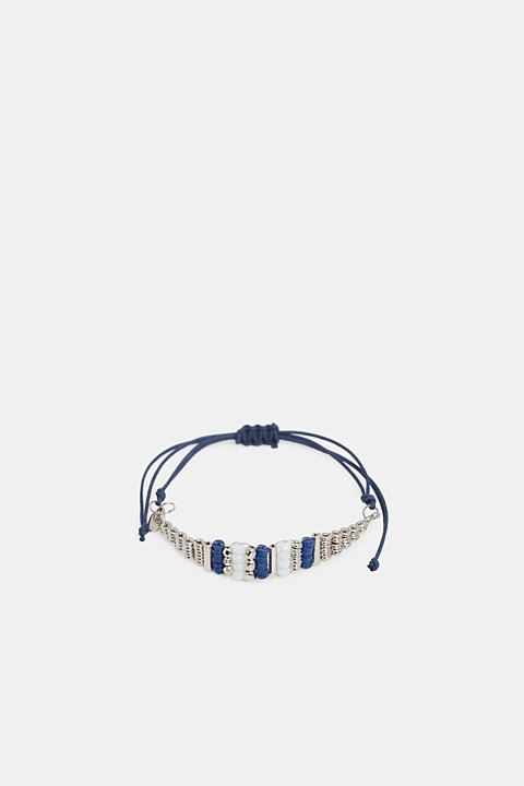 Textile bracelet with a bead trim
