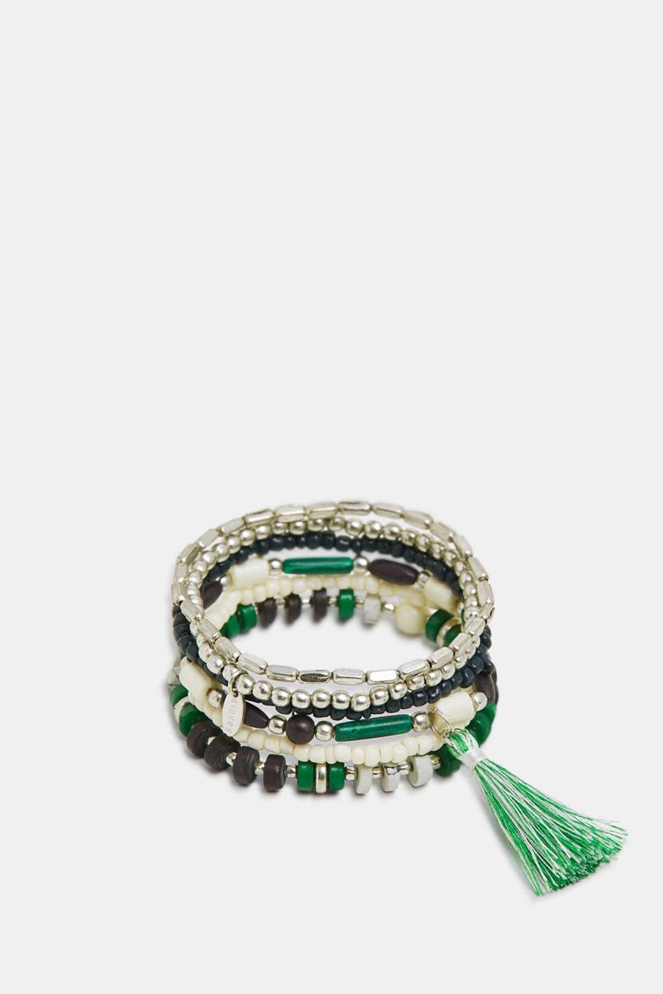 Set of beaded bracelets, SILVER, detail image number 0