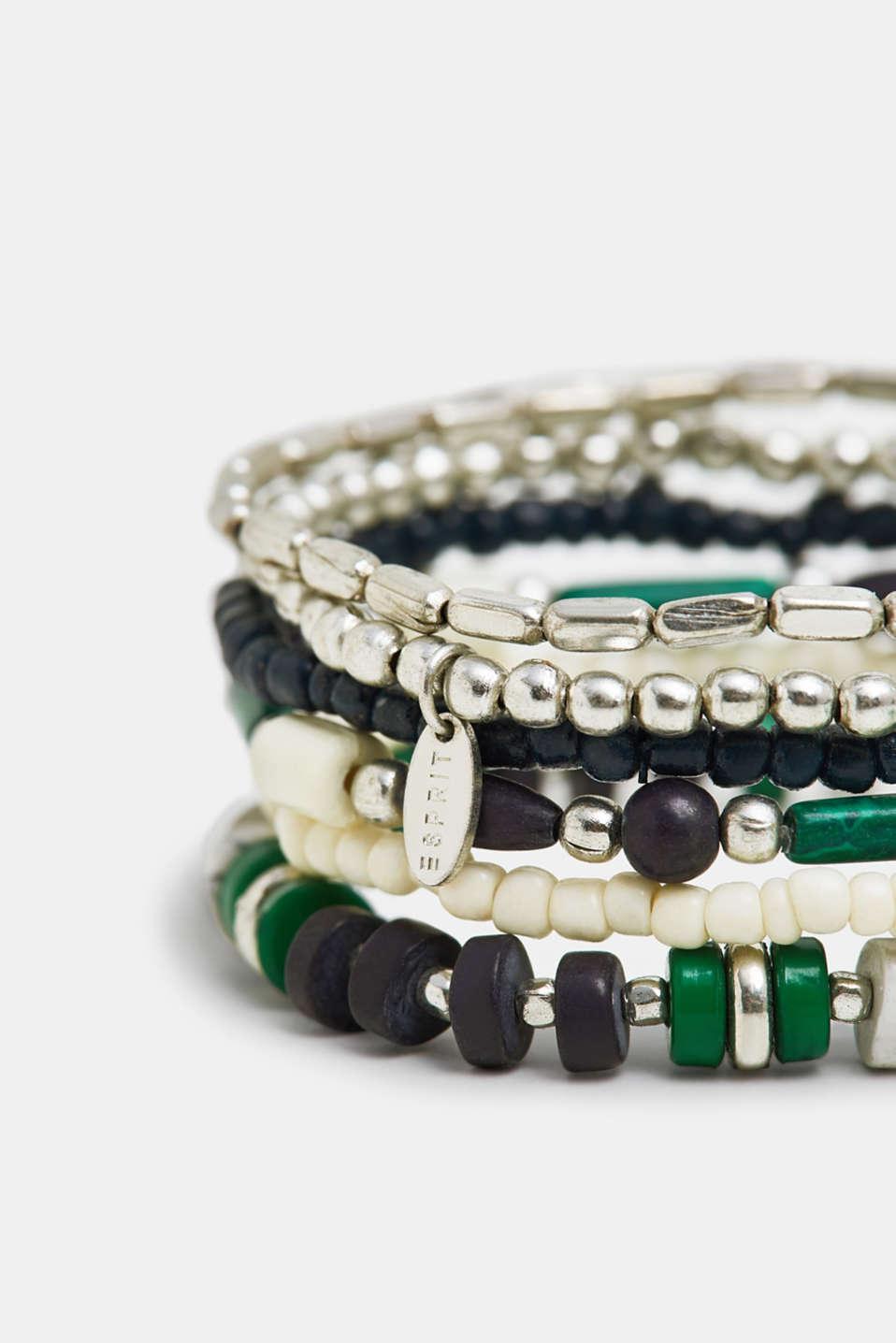 Set of beaded bracelets, SILVER, detail image number 1