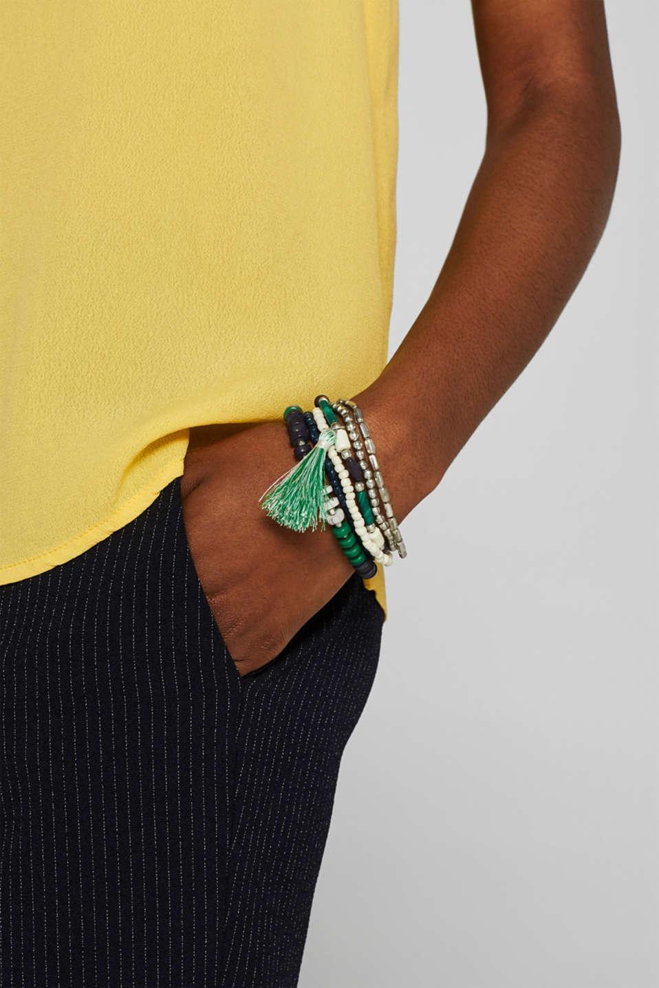 Set of beaded bracelets, SILVER, detail image number 2