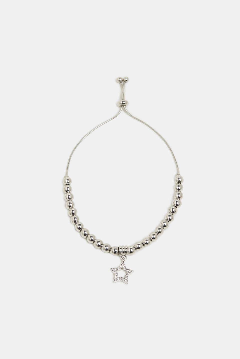 Star charm bracelet, SILVER, detail image number 0