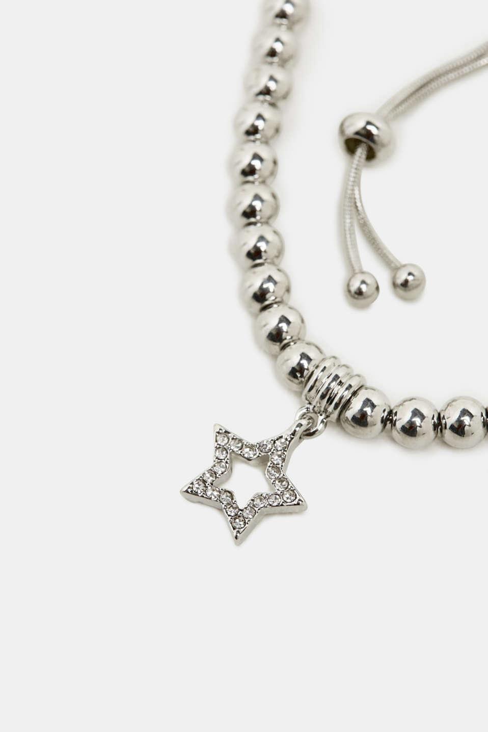 Star charm bracelet, SILVER, detail image number 1