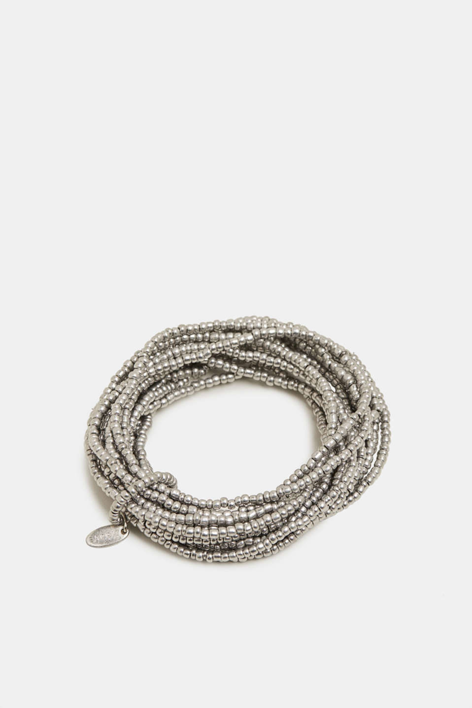 Multi-strand bracelet with metal beads, SILVER, detail image number 0
