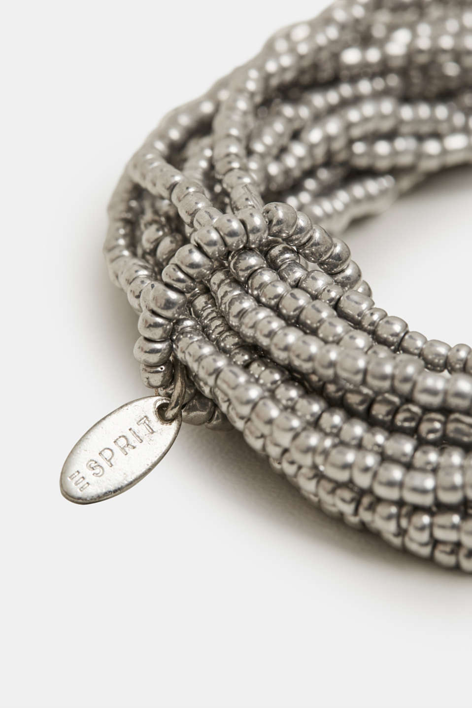 Multi-strand bracelet with metal beads, SILVER, detail image number 1