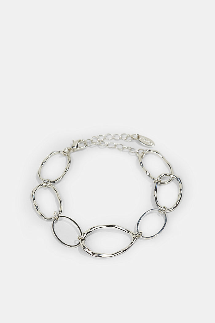 Bracelet with uneven links, SILVER, detail image number 0