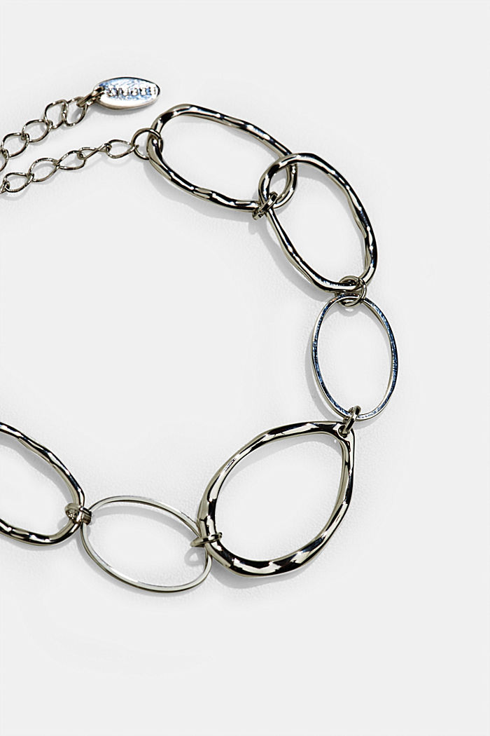 Bracelet with uneven links, SILVER, detail image number 1