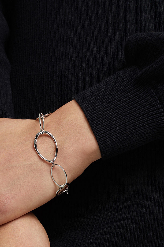 Bracelet with uneven links, SILVER, detail image number 2