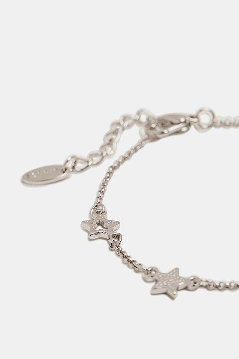 Star detail bracelet, made of metal