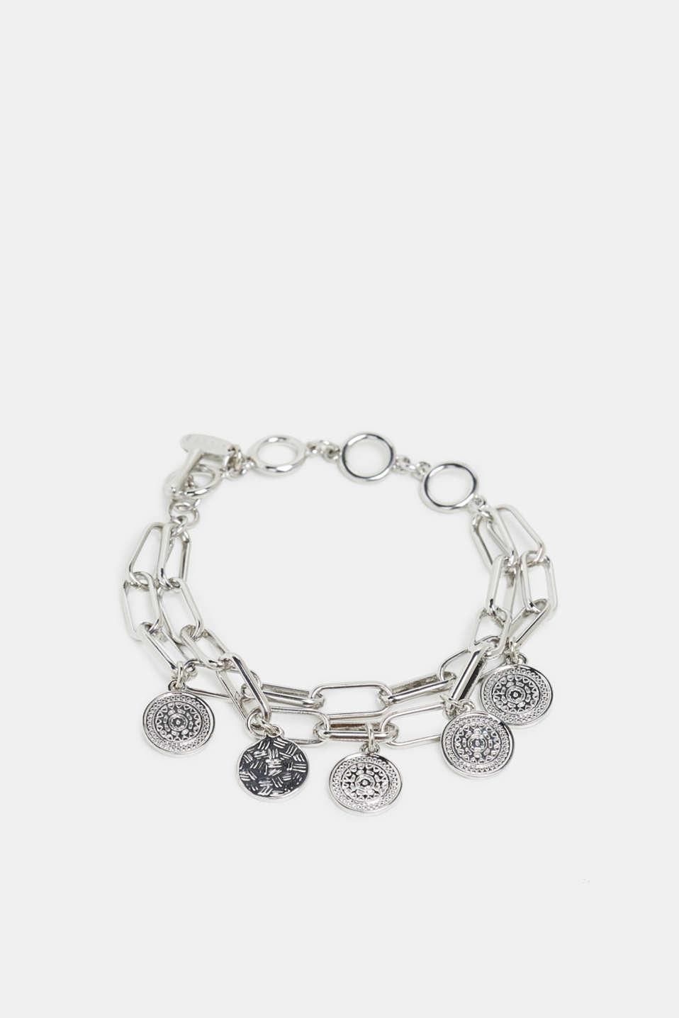 Metal charm bracelet, SILVER, detail image number 0