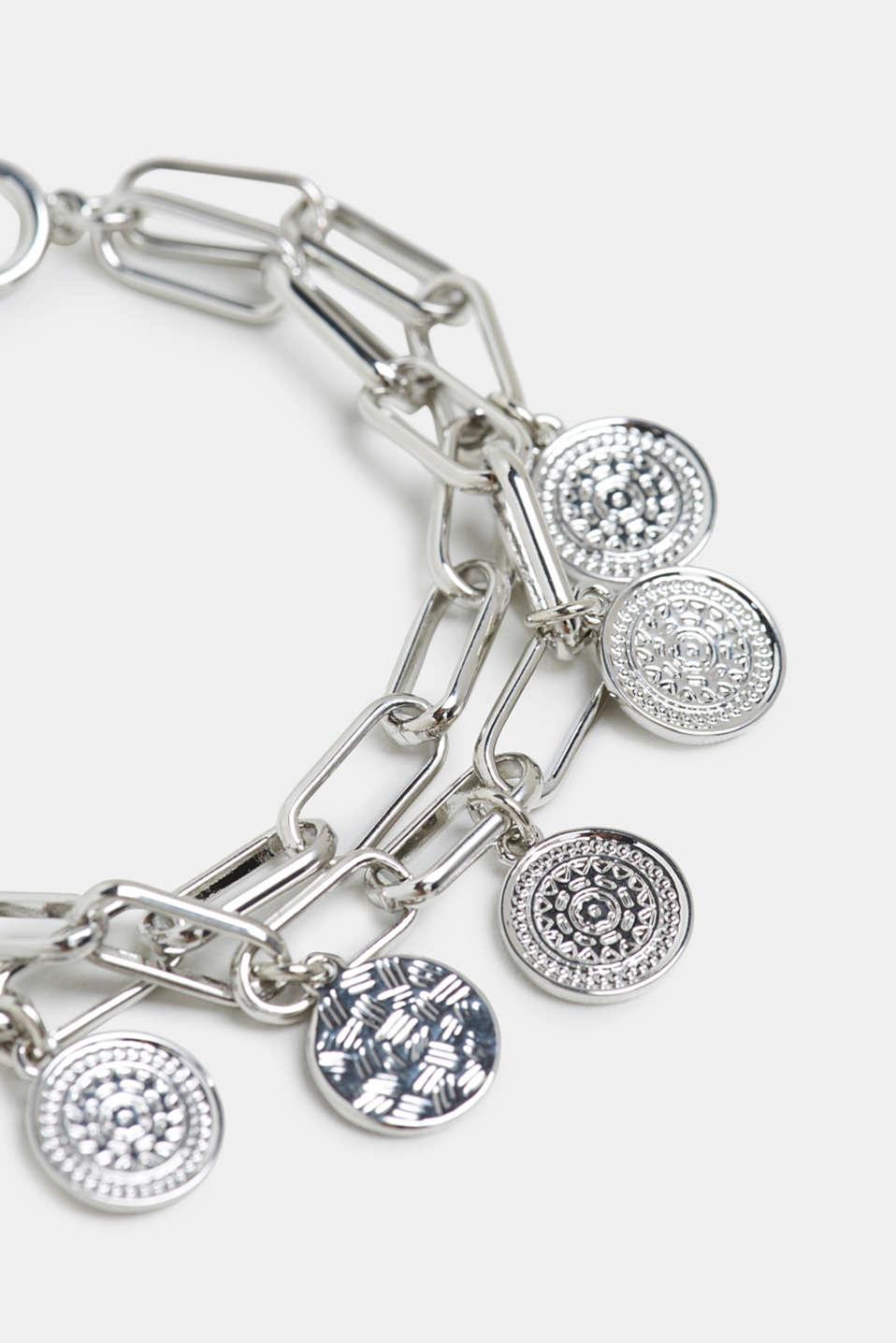 Metal charm bracelet, SILVER, detail image number 1