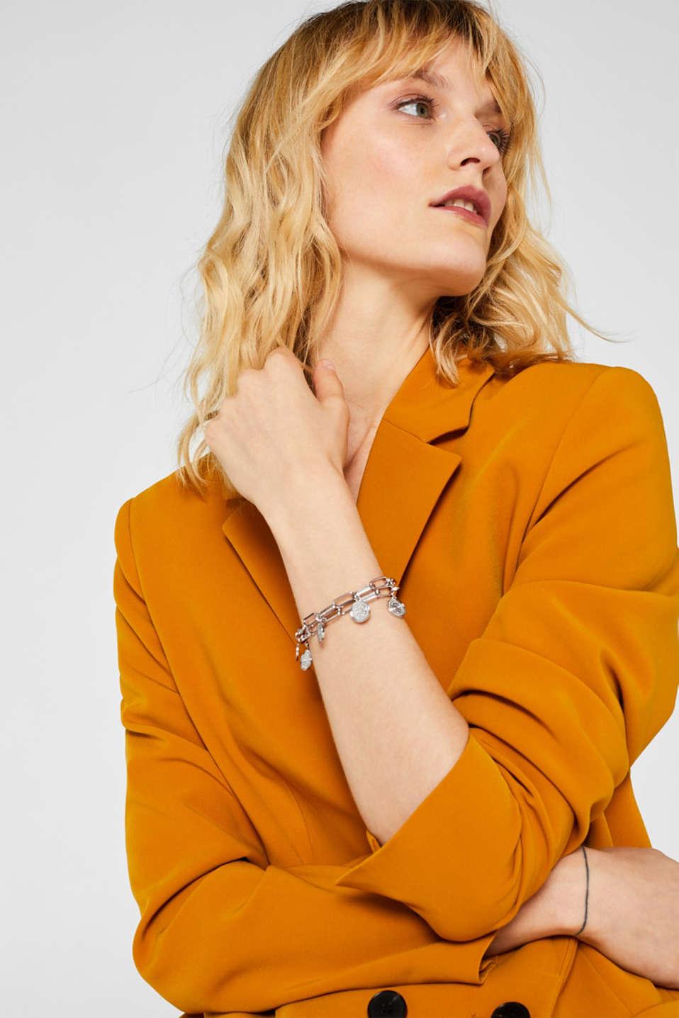 Metal charm bracelet, SILVER, detail image number 2