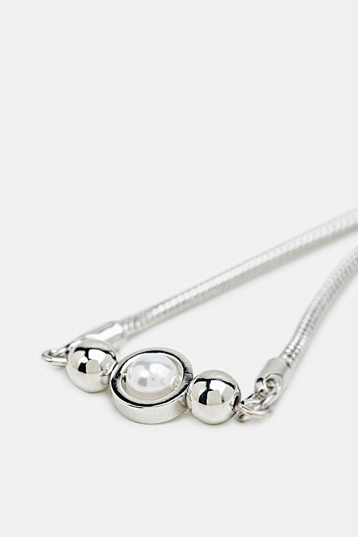 Faux pearl bracelet, ONE COLOUR, detail image number 1