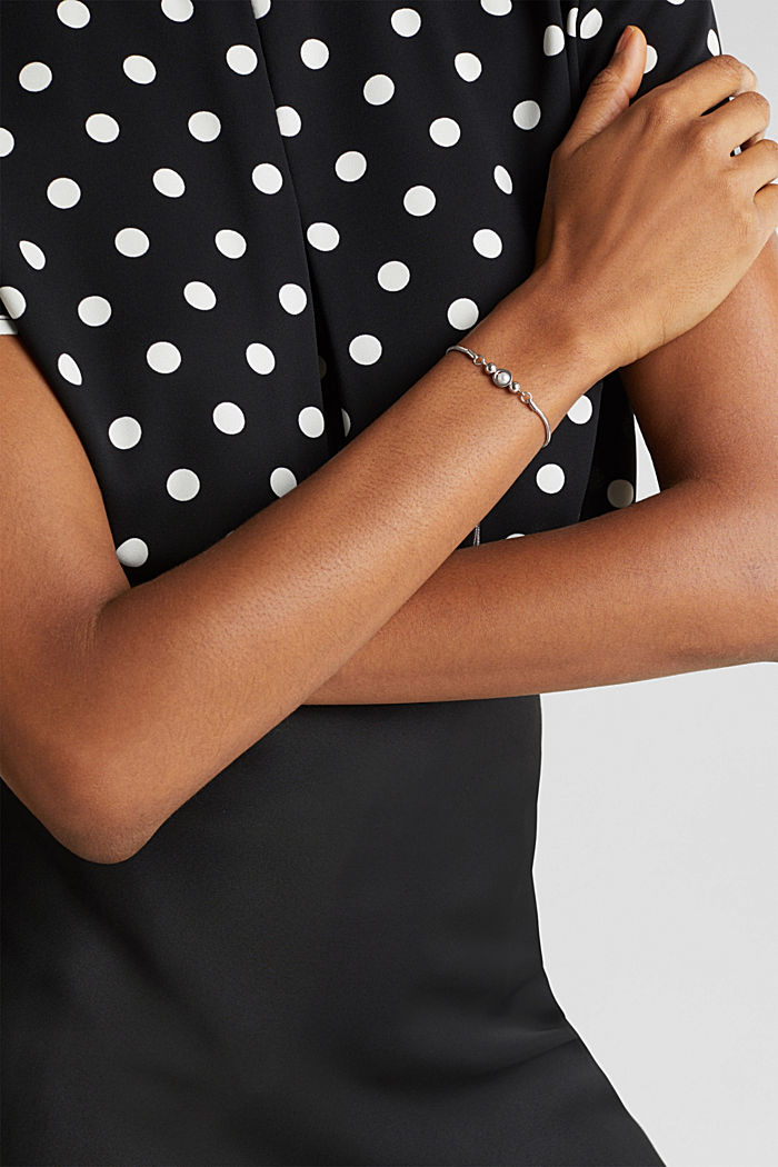 Faux pearl bracelet, ONE COLOUR, detail image number 2