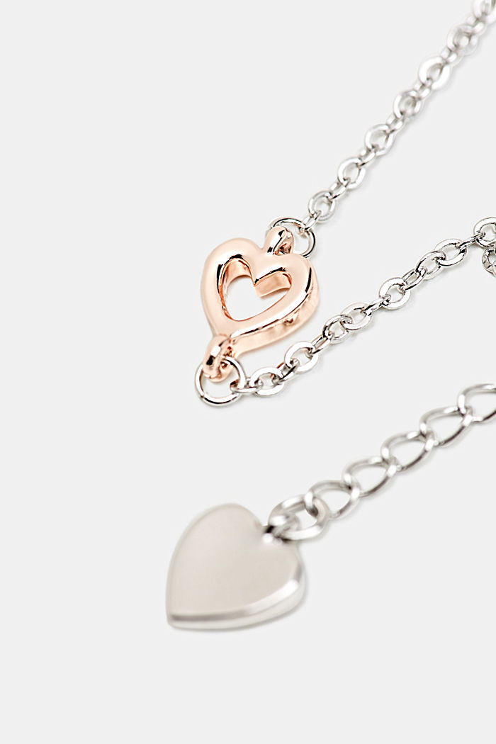 Bracelet with a heart pendant, ONE COLOUR, detail image number 1