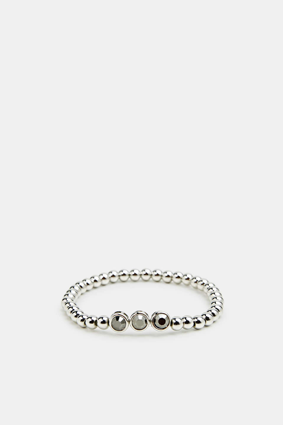 Stretchy metallic bracelet with beads, LC1COLOR, detail image number 0