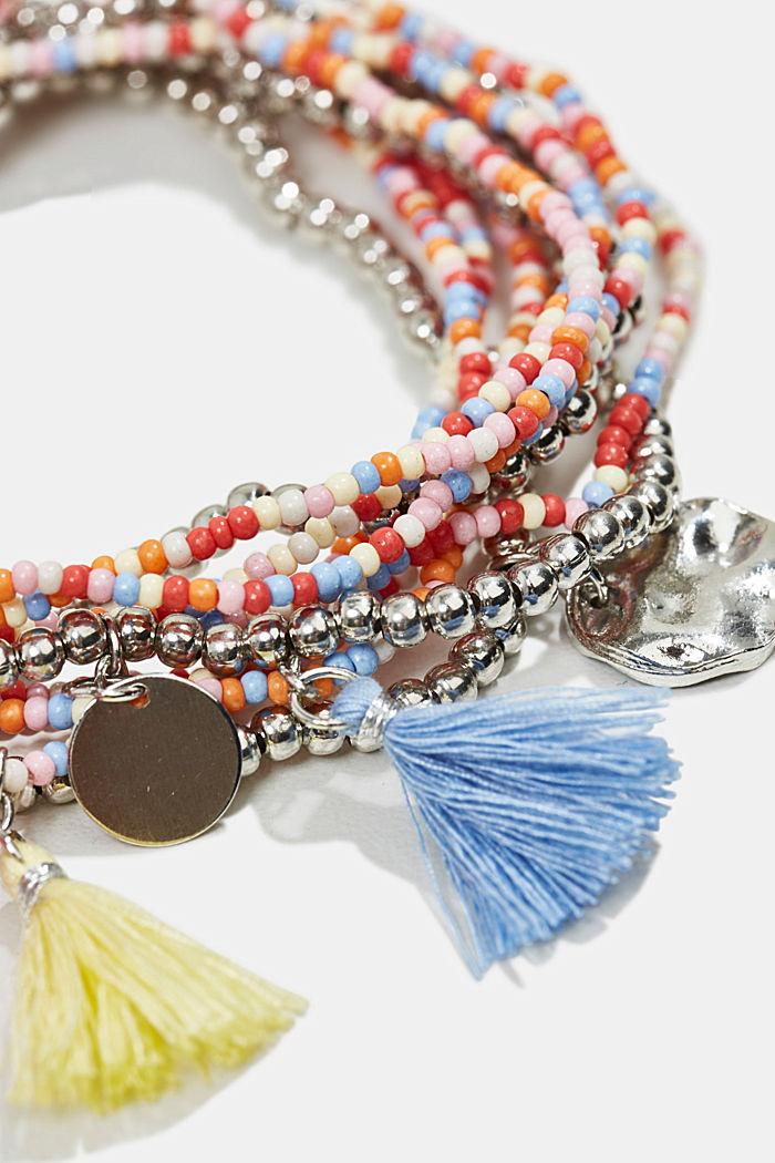 10er Set Perlen-Armbänder, MULTICOLOUR, detail image number 1