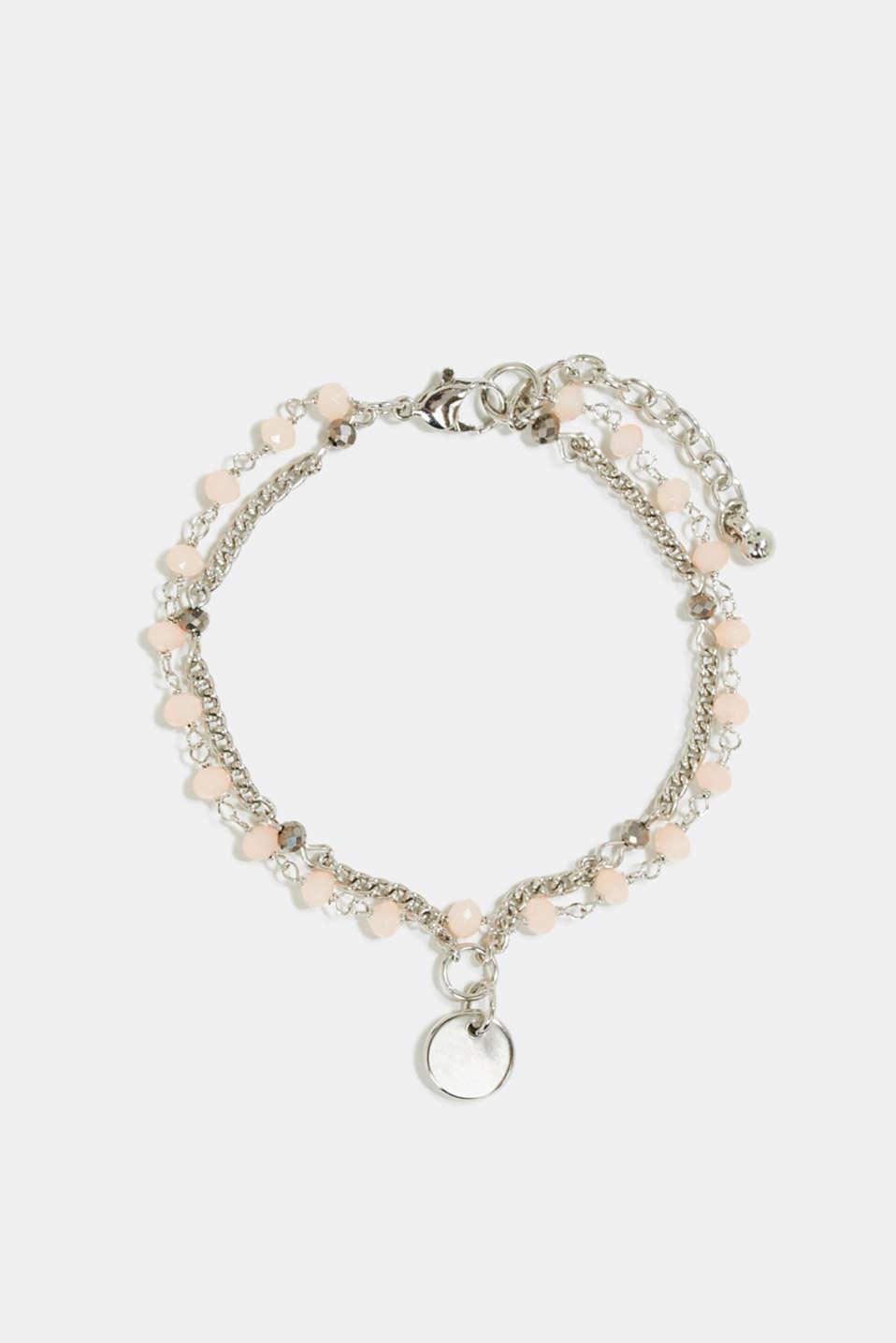 Double-layer bead bracelet, 1COLOR, detail image number 0