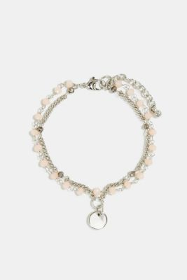 Double-layer bead bracelet, ROSE, detail
