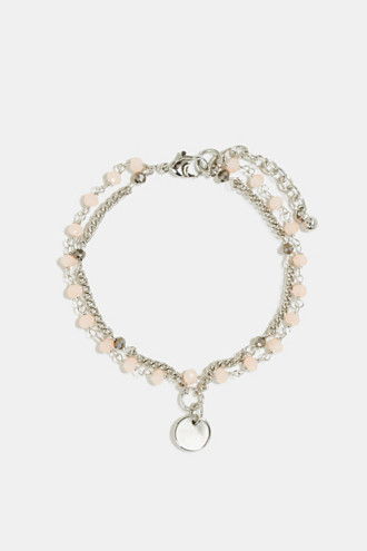 Double-layer bead bracelet