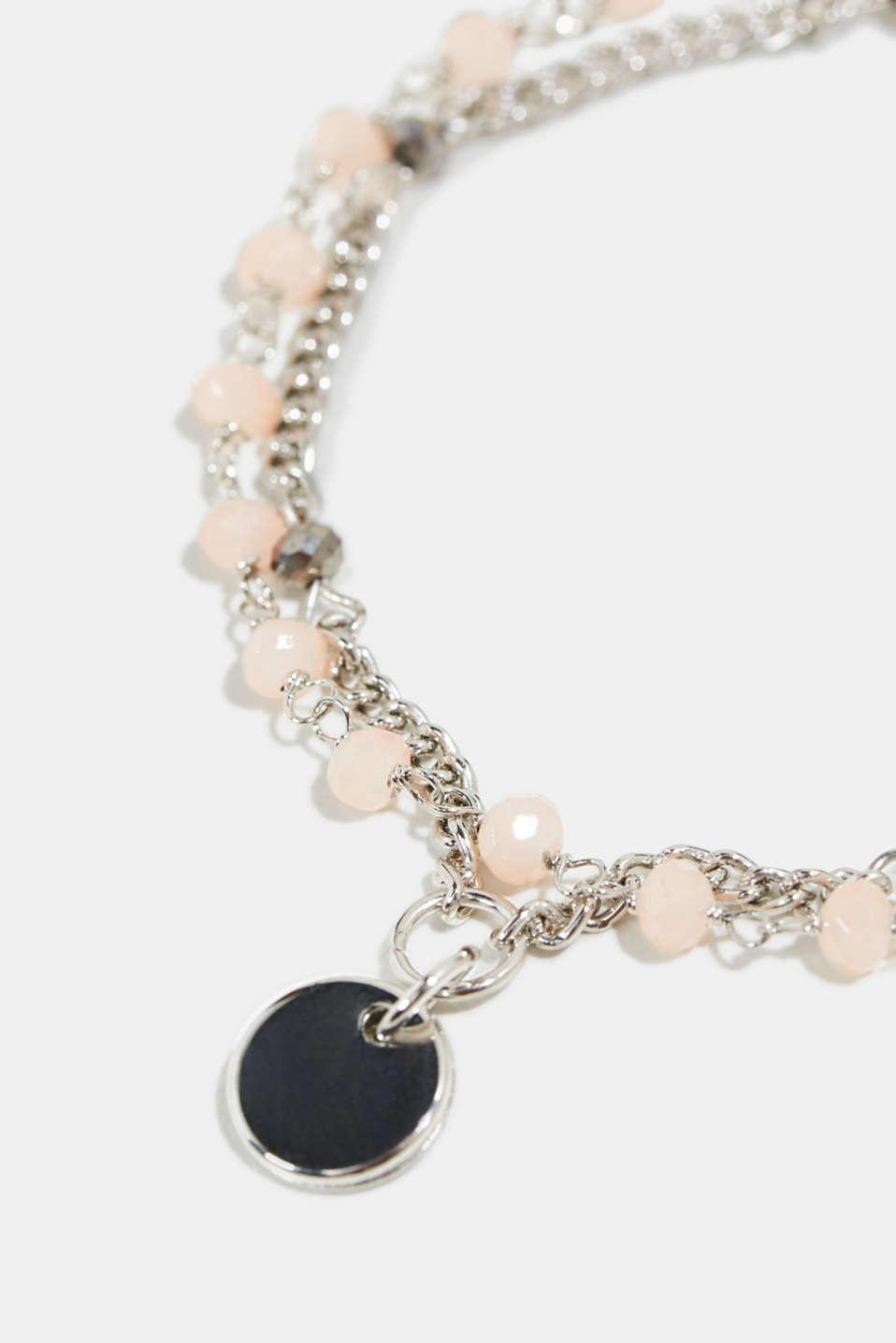Double-layer bead bracelet, 1COLOR, detail image number 1