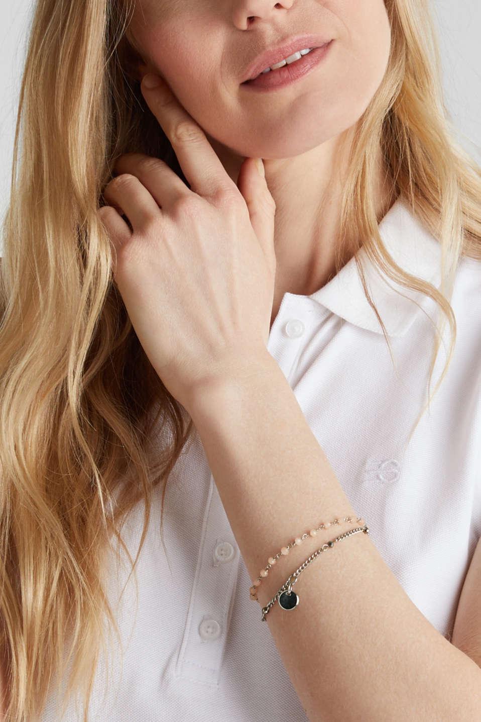 Double-layer bead bracelet, 1COLOR, detail image number 2