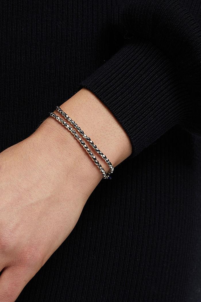 Two beaded bracelets