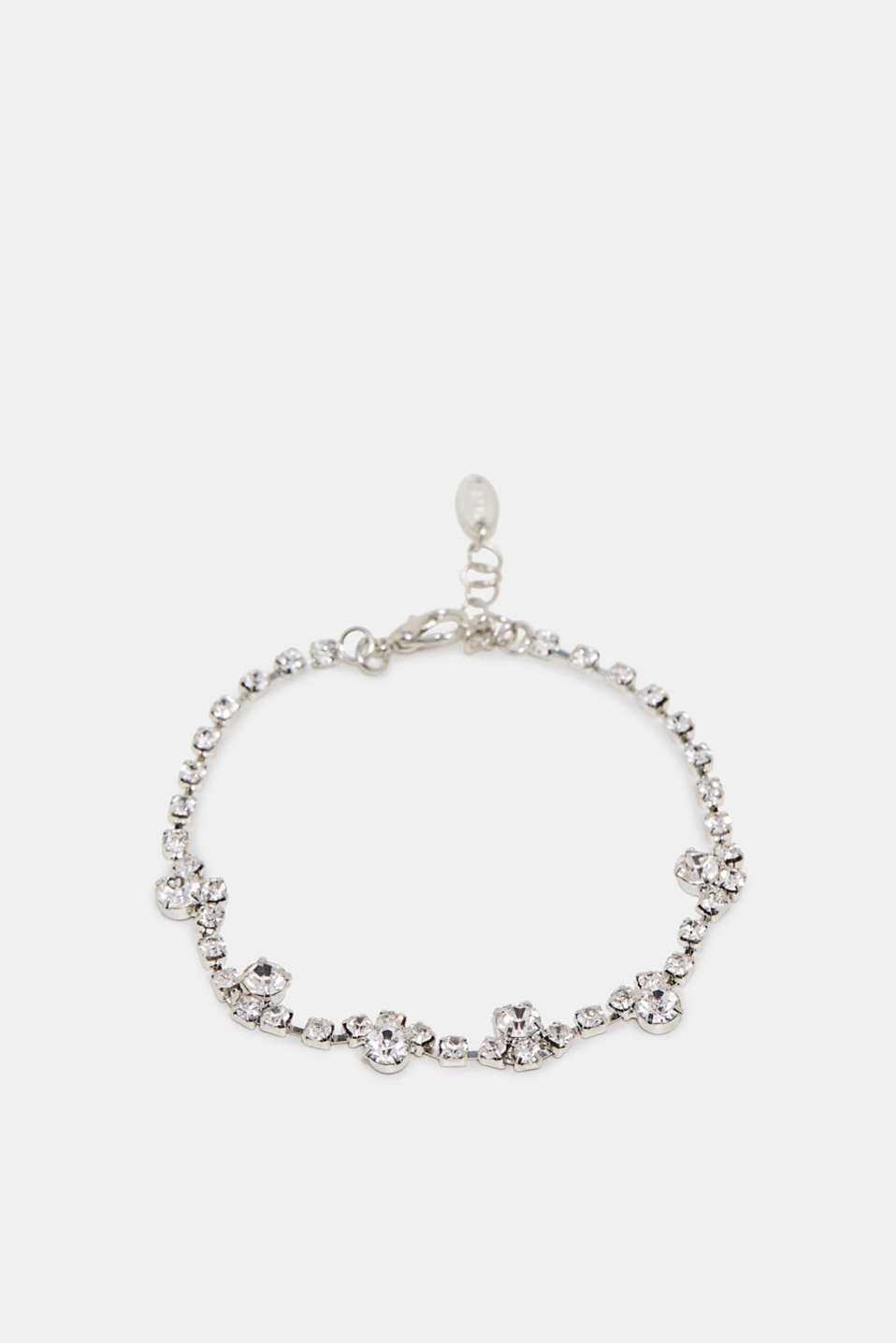 Metal bracelet with rhinestone details as a pretty, sparkly present or a treat for yourself!