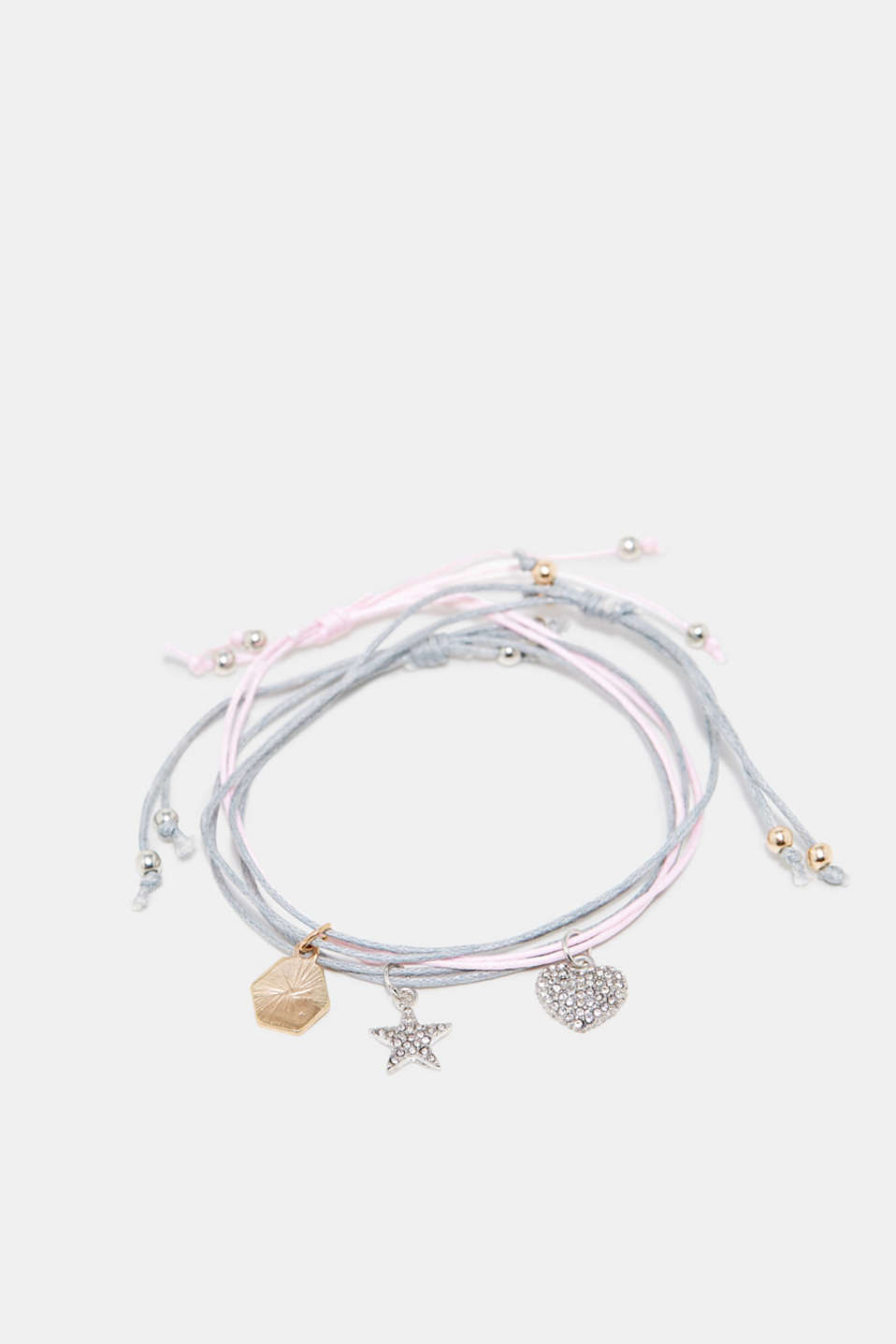 Esprit - Three bracelets with charms