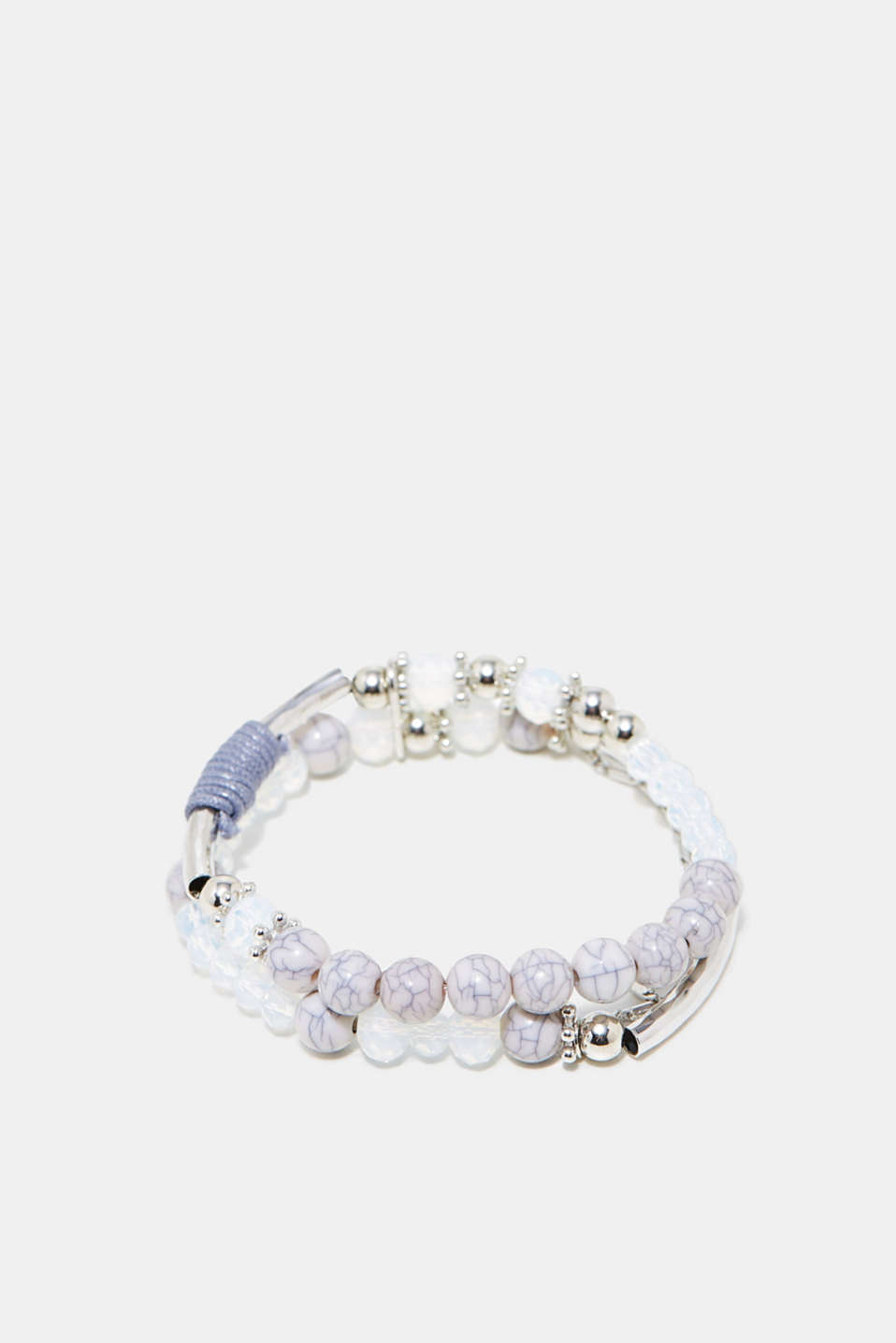 Esprit - Twin bracelet with a variety of beads