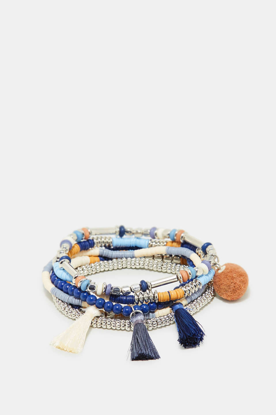 Esprit - Set of beads bracelets with tassels