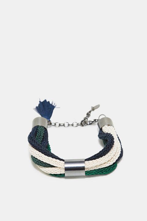 Bracelet with braided strands